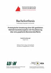 Bild der Titelseite der Publikation: Prototypische Umsetzung einer GIS-gestützten Nahwärmenetzkonzeption mit Visualisierung über eine grafische Benutzeroberfläche