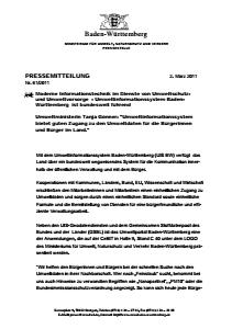 Bild der Titelseite der Publikation: Moderne Informationstechnik im Dienste von Umweltschutz- und Umweltvorsorge