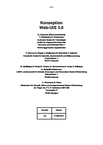 Bild der Titelseite der Publikation: Konzeption Web-UIS 3.0