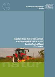 Bild der Titelseite der Publikation: UmweltSpezial - Kostendatei für Maßnahmen des Naturschutzes und der Landschaftspflege