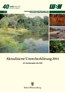 Bild der Titelseite der Publikation: Umwelterklärung 2014 - Aktualisierung