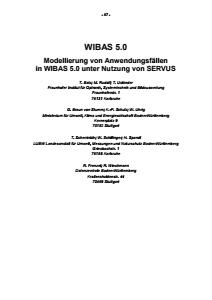 Bild der Titelseite der Publikation: WIBAS 5.0 - Modellierung von Anwendungsfällen in WIBAS 5.0 unter Nutzung von SERVUS