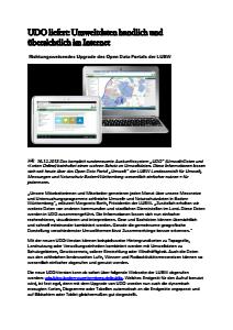 Bild der Titelseite der Publikation: UDO liefert: Umweltdaten handlich und übersichtlich im Internet