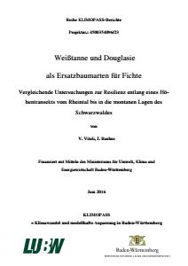 Bild der Titelseite der Publikation: Weißtanne und Douglasie als Ersatzbaumarten für Fichte