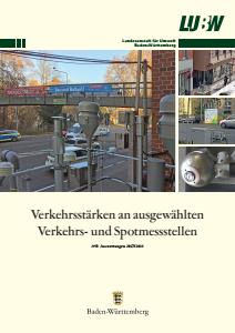 Bild der Titelseite der Publikation: Verkehrsstärken an ausgewählten Verkehrs- und Spotmessstellen. Auswertungen 2017/2018