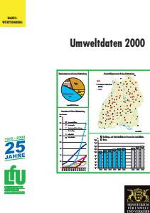 Bild der Titelseite der Publikation: Umweltdaten 2000 Baden-Württemberg