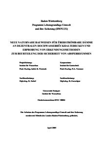 Bild der Titelseite der Publikation: Neue naturnahe Bauweisen für überströmbare Dämme