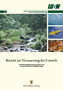 Bild der Titelseite der Publikation: Bericht zur Versauerung der Umwelt