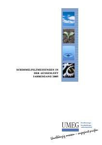 Bild der Titelseite der Publikation: Schimmelpilzmessungen in der Außenluft im Jahresgang 2005