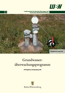 Bild der Titelseite der Publikation: Grundwasserüberwachungsprogramm. Ergebnisse der Beprobung 2016