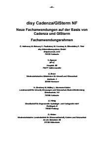 Bild der Titelseite der Publikation: disy Cadenza/GISterm NF - Neue Fachanwendungen auf der Basis von Cadenza und GISterm - Fachanwendungsrahmen