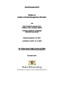 Bild der Titelseite der Publikation: Radon in baden-württembergischen Schulen
