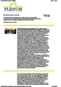 Bild der Titelseite der Publikation: Newsletter 2 / 2009