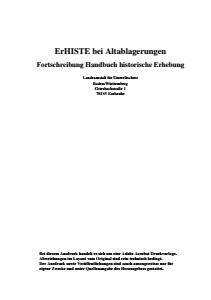 Bild der Titelseite der Publikation: ErHISTE bei Altablagerungen