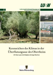 Bild der Titelseite der Publikation: Kennzeichen des Klimas in der Überflutungsaue des Oberrheins