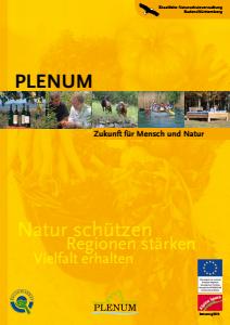 Bild der Titelseite der Publikation: PLENUM. Zukunft für Mensch und Natur