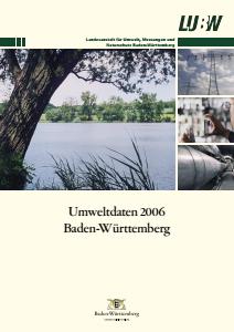 Bild der Titelseite der Publikation: Umweltdaten 2006 Baden-Württemberg