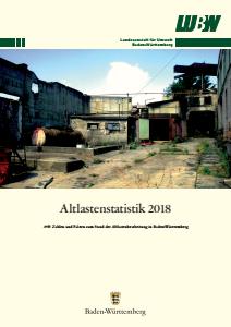 Bild der Titelseite der Publikation: Altlastenstatistik 2018