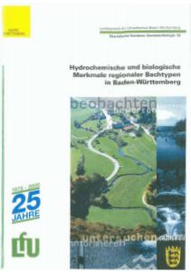 Bild der Titelseite der Publikation: Hydrochemische und biologische Merkmale regionaler Bachtypen in Baden-Württemberg
