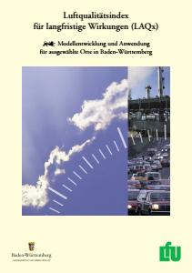 Bild der Titelseite der Publikation: Luftqualitätsindex für langfristige Wirkungen (LAQx)