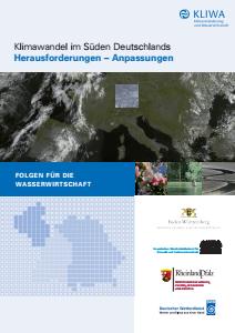 Bild der Titelseite der Publikation: Klimawandel im Süden Deutschlands