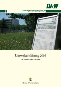 Bild der Titelseite der Publikation: Umwelterklärung 2016