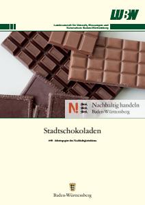 Bild der Titelseite der Publikation: Arbeitspapier: Stadt-Schokoladen