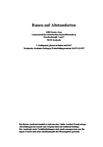 Bild der Titelseite der Publikation: Bauen auf Altstandorten