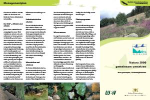 Bild der Titelseite der Publikation: Natura 2000 gemeinsam umsetzen