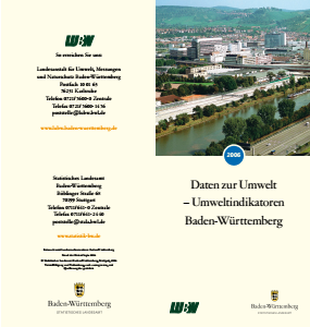 Bild der Titelseite der Publikation: Daten zur Umwelt - Umweltindikatoren Baden-Württemberg 2006