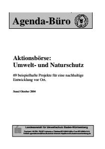 Bild der Titelseite der Publikation: 12 Themenfelder der Aktionsboerse - Sammlung von Projekten