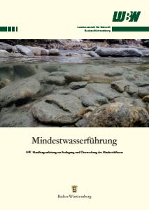 Bild der Titelseite der Publikation: Mindestwasserführung