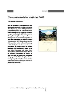 Bild der Titelseite der Publikation: Contaminated site statistics 2015