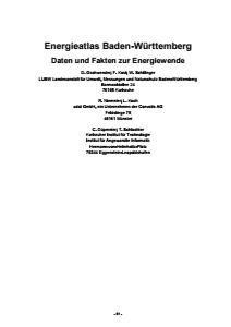 Bild der Titelseite der Publikation: Energieatlas Baden-Württemberg - Daten und Fakten zur Energiewende