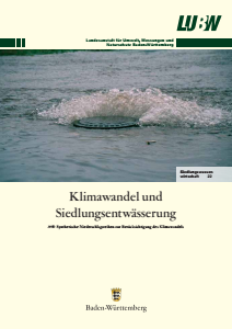 Bild der Titelseite der Publikation: Klimawandel und Siedlungsentwässerung