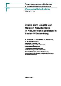 Bild der Titelseite der Publikation: Studie zum Einsatz von Mobilen Naturführern in Naturerlebnisgebieten in Baden-Württemberg
