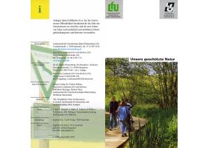 Bild der Titelseite der Publikation: Unsere geschützte Natur