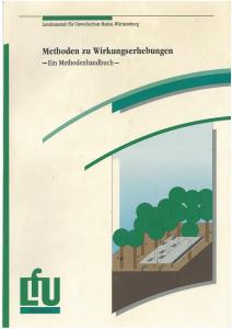 Bild der Titelseite der Publikation: Methoden zu Wirkungserhebungen - Ein Methodenhandbuch
