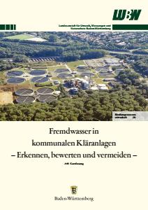 Bild der Titelseite der Publikation: Fremdwasser in kommunalen Kläranlagen