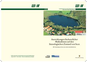 Bild der Titelseite der Publikation: Auswirkungen fischereilicher Maßnahmen auf den limnologischen Zustand von Seen