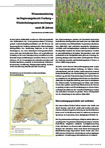 Bild der Titelseite der Publikation: Wiesenmonitoring im Regierungsbezirk Freiburg – Wiederholungsuntersuchungen nach 30 Jahren