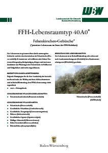 Bild der Titelseite der Publikation: FFH-Lebensraumtyp 40A0