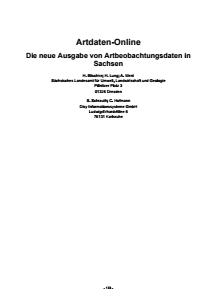 Bild der Titelseite der Publikation: Artdaten Online - Die neue Ausgabe von Artbeobachtungsdaten in Sachsen