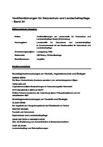 Bild der Titelseite der Publikation: Band 34 - Veröffentlichungen der Landesstelle für Naturschutz und Landschaftspflege Baden-Württemberg