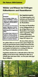 Bild der Titelseite der Publikation: Natura 2000 gemeinsam umsetzen - Wälder und Wiesen bei Ettlingen, Kälberklamm und Hasenklamm