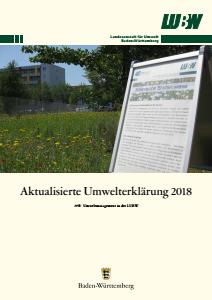 Bild der Titelseite der Publikation: Umwelterklärung 2018 - Aktualisierung