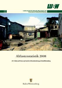 Bild der Titelseite der Publikation: Altlastenstatistik 2008