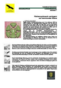 Bild der Titelseite der Publikation: Flächenverbrauch verringern auf kommunaler Ebene