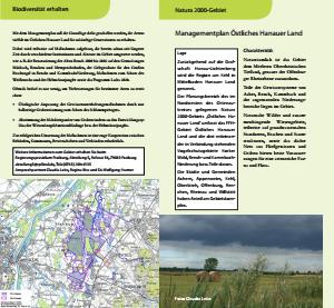Bild der Titelseite der Publikation: Natura 2000 Gemeinsam umsetzen - Managementplan Östliches Hanauer Land