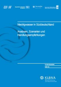 Bild der Titelseite der Publikation: Niedrigwasser in Süddeutschland